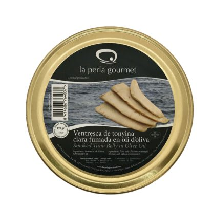 Ventresca de atún ahumada en aceite de oliva